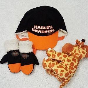 6c2e7e17729 Harley-Davidson Toddler Boy Hat   Mittens Gift Set